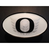 University of Oregon - Hitch Cover - Snap Cap - Chevron O - White