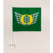 University of Oregon - Car Flag - Green with silver wings