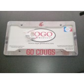 Washington State University, Chrome Plastic License Plate Frame, Go Cougs